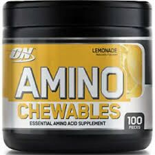 ON OPTIMUM NUTRITION AMINO CHEWABLES 50 servings Lemon  Energy Recovery