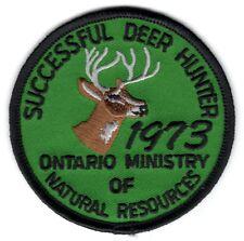 1973 Ontario Successful Deer Hunting Patch Michigan Bear Moose Turkey #2