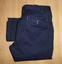 DESIGNER BODEN NAVY BLUE STRETCH SLIM TAPERED CHINO TROUSERS PANT W38 L32