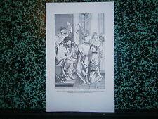 Gravure 19° Jésus couronné d'épine peinture sur bois de Albert Dürer