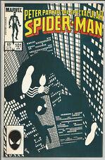 PETER PARKER SPECTACULAR SPIDER-MAN #101 VF+ John Byrne black costume cover 1985