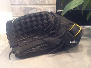 "Mizuno Fastpitch Softball Mitt Glove 12.5"" GPL 1250F1 Black LHT Fast Pitch Left"