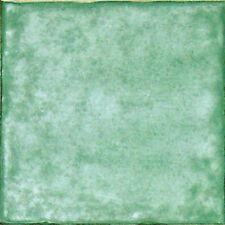Spanische Fliese, einfarbig Antikstil 15x15 cm, Grün