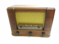 VINTAGE TRUETONE D3634 ART DECO SHORTWAVE WOOD CASE TUBE RADIO / WORKS r13