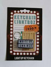Keychain Lightbox Light Up Keyring Fob Message Box,Stocking Filler 150 Stickers!
