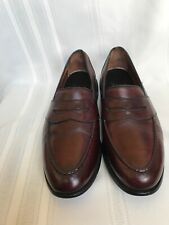 ALLEN EDMONDS RANDOLPH  9.5 D ,BURGUNDY HANDCRAFTED PENNY LOAFERS SHOES Calfskin