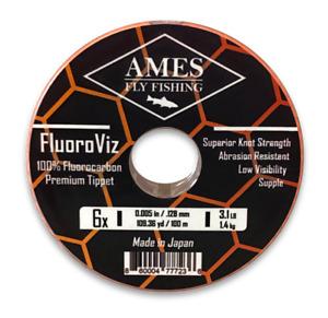 Ames Fly Fishing FluoroViz Premium Fluorocarbon Tippet 100 Meter Guide Spool 6X