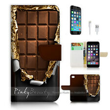 ( For iPhone 7 ) Wallet Case Cover P0658 Chocolate
