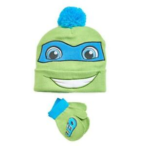 NWT - Toddler Boys Teenage Mutant Ninja Turtles Hat With Matching Gloves - Green