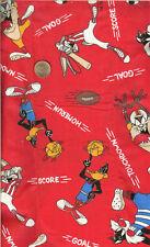 VINTAGE! LOONEY TUNES PLAYIN' SPORTS - REL. 1995 - BTHY - EACH PC. 1/2 YARD