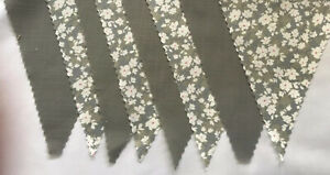 Vintage floral & Sage Green Shabby Chic Wedding Bunting decoration 4 mt or more