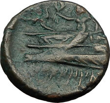 ARADOS in PHOENICIA 176BC Authentic Ancient Greek Coin TYCHE & POSEIDON i65503