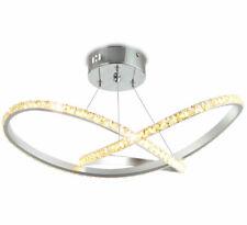 LED Deckenlampe Kristall Hänge Lampe Leuchte Design 36W 50x max.80cm Neutralweiß