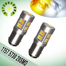 2 PCS 1157 BAY15D 20-SMD Amber/Yellow Car Back Up Reverse LED Bulb Lights
