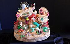 "THE LITTLE MERMAID ARIEL 4 GLOBE SNOWGLOBE. WITH FRIENDS MUSICAL ""UNDER THE SEA"""