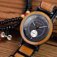 WOODEN WATCH BOBO WATCH MENS OFFICIAL LUXURY STAINLESS STEEL RELOGIO LOVERS GIFT