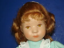 """Kathe Kruse 10 1/2"""" Daumlinchen Doll 25H w Unusual Red Hairstyle Germany 1980s"""