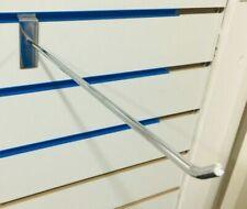 "27 x 12"" SLAT WALL CHROME SLATWALL PRONGS ARM HOOKS RETAIL DISPLAY SHOP FITTINGS"