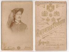 Foto militare cartonata BERSAGLIERE R.Ferretti Napoli - 1891