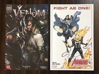 Marvel Venom AMC Exclusive Comic & Bonus SDCC '18 Avengers Mini Poster