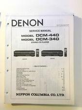 Denon DCM-340 DCM-440 CD Player Service Manual *Original*