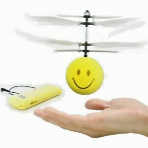 Mini Copter Toy Smile Flying Ball Flyer Hand-Controlled Helicopter Sensor B/O US