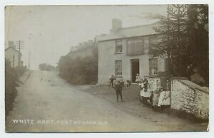White Hart Inn White Hart Newbridge Road Pentwynmawr Real Photograph Postcard A9