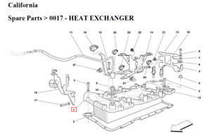 NEW  Genuine Ferrari California.Heat Exchanger 239137