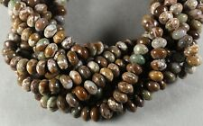 """NATURAL AFRICAN GREEN OPAL 6x10MM RONDELLE BEADS 16"""" STRAND"""