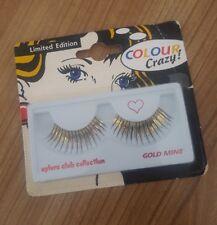 ORO falso occhio ciglia Eylure CLUB Collection miniera d'oro colore Crazy Costume