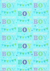 10 Sheets Folded General Boys Gift Birthday Wrapping Wrap Paper FW907