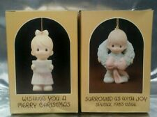 Precious Moments Ornaments- Wishing You A Merry Christmas & Surround Us With Joy
