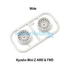 Llanta ancha blanca Offset 1.0 (2 Uds.) Kyosho Mini-Z AWD / FWD MDH100W-W1