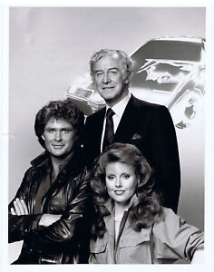 "NBC Press Photo 9"" x 7"" KNIGHT RIDER David Hasselhoff Rebecca Holden 1983"