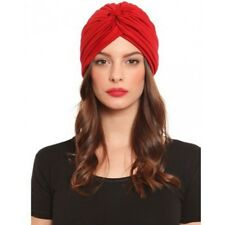 Brand New Women's Vintage Red Hair Turban Polyester