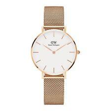 Relojes de pulsera de acero inoxidable dorado de acero inoxidable dorado para mujer