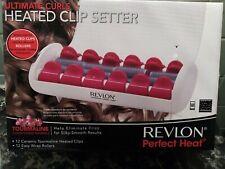Revlon Ultimate Curls Heated Clip Setters Tourmaline Ceramic Ionic RVHS6604