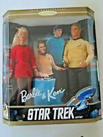 BARBIE & KEN DOLLS STAR TREK 30th ANNIVERSARY GIFT SET COMPLETE IN BOX 1996