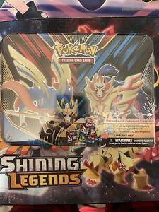 Pokemon TCG 2020 Spring Collector's Chest LUNCH BOX Tin Zacian - Zamazenta NEW