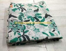 NEW FLOWER HAND BLOCK PRINT FABRIC 5 YARD 100% COTTON PRINT FABRIC INDIAN SG 128