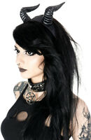 Restyle Beleth Devil Horns Gothic Elegant Satanic Gothic Punk Headpiece Headband