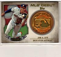⚾ 2016 Topps Baseball MLB Debut Medallion #MLBD2M-21 Carlos CORREA ⚾