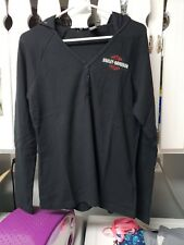 HARLEY DAVIDSON  hoodie LS shirt top pullover light weight womens LARGE Thermal