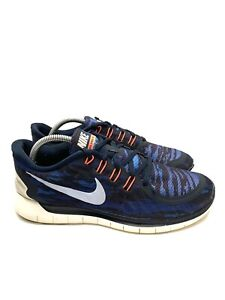 Nike Free 5.0 Blue Print Athletic Running Shoes Mens Size 10.5