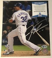 Josh Hamilton Signed Autographed Texas Rangers 8x10 Photo Beckett BAS COA