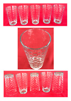 VINTAGE Libbey Drinking Glass Tumblers 16 oz. DOTS Set of 5