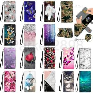 For Samsung Galaxy S21 S20 S10 S9 S8 Ultra Plus FE Pattern Leather Wallet Case