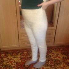 leggins Russian wool goat down. Hand made. Very soft, very warm, fluffy XL