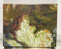 Street Abstract Pour Contemporary Oil on Canvas Painting Floating Framed