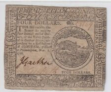 High Grade Continental $4 Colonial Currency 1776 Nov 2